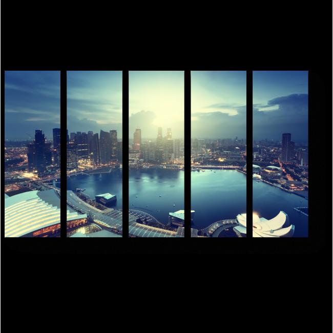 Модульная картина Сингапур на закате