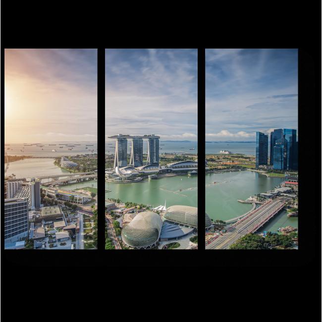 Модульная картина Деловой центр Сингапура