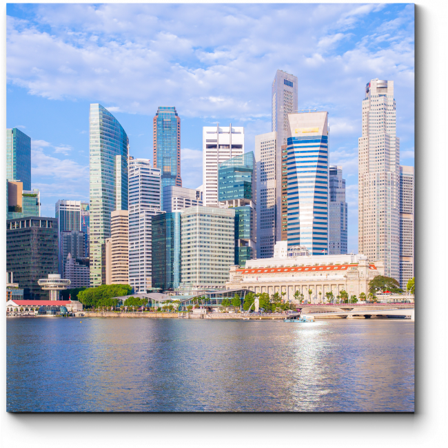Модульная картина Набережная Марина Бэй, Сингапур