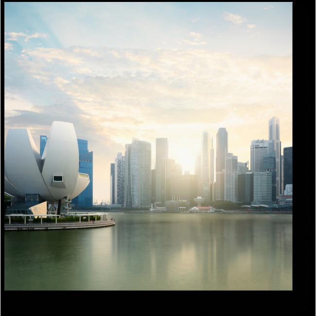 Модульная картина Сингапур просыпается