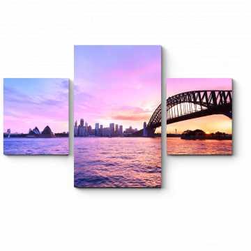 Модульная картина Неповторимая панорама Сиднея