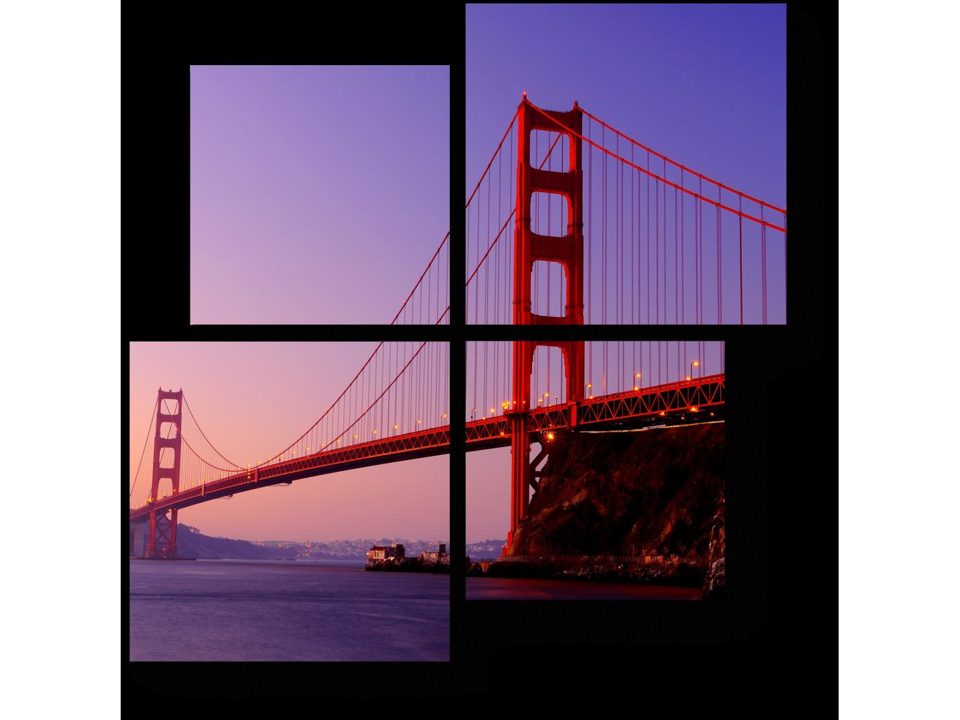 Модульная картина Рассвет (50x50) фото