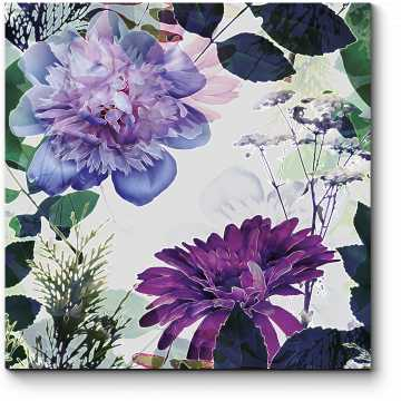 Модульная картина Винтажные цветы
