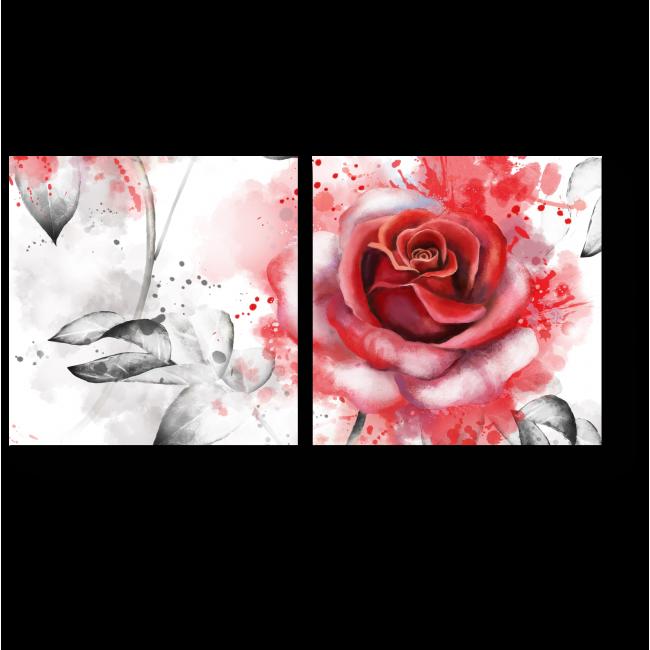 Модульная картина Розы прекрасные
