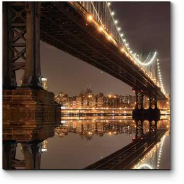 Ночной вид на Нью-Йорк