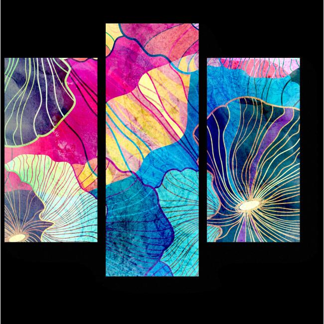 Модульная картина Сплетение лепестков