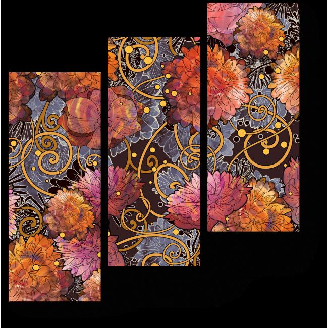 Модульная картина Великолепные цветы