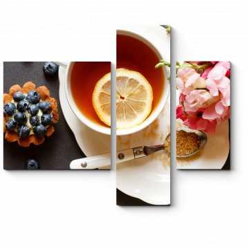 Модульная картина Весеннее чаепитие