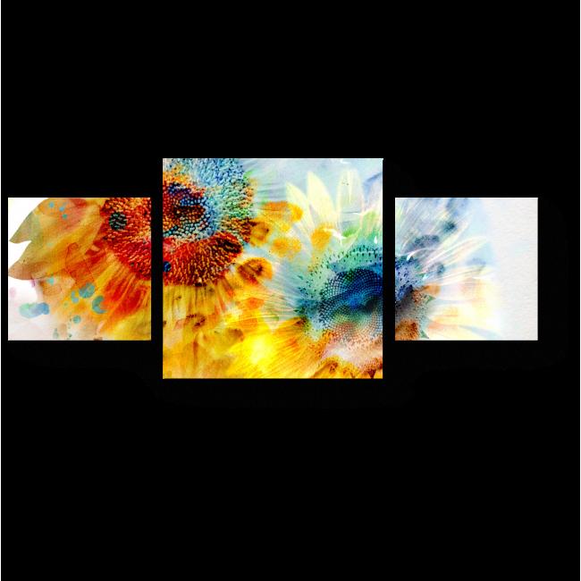 Модульная картина Солнечные подсулнухи