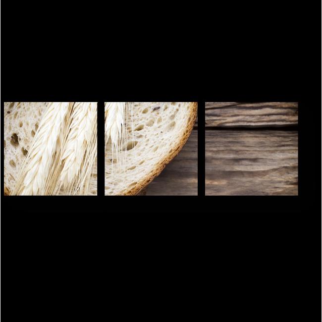 Модульная картина Ломтики горячего хлеба