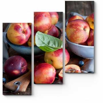 Модульная картина Спелые персики