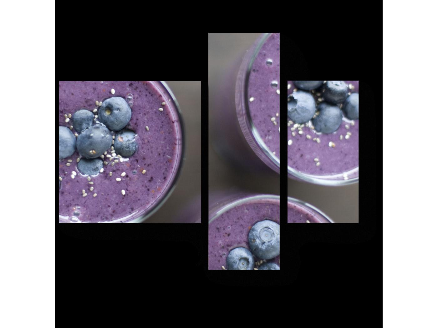 Модульная картина Смузи из голубики (80x66) фото