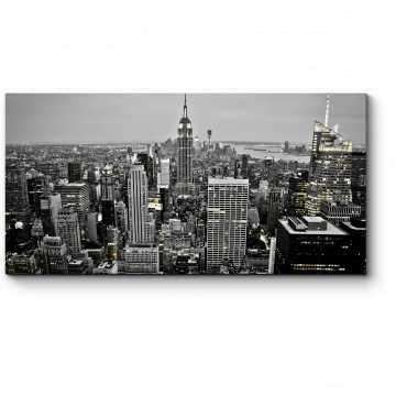 Модульная картина Нью-Йорк в серых тонах