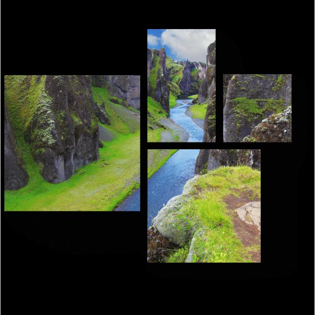 Модульная картина Река в каньоне