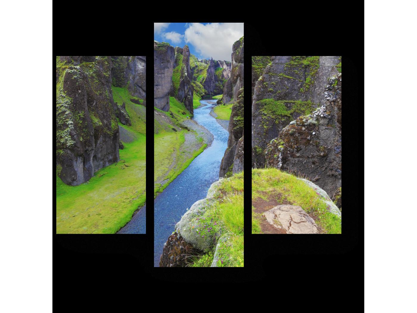 Модульная картина Река в каньоне (60x54) фото