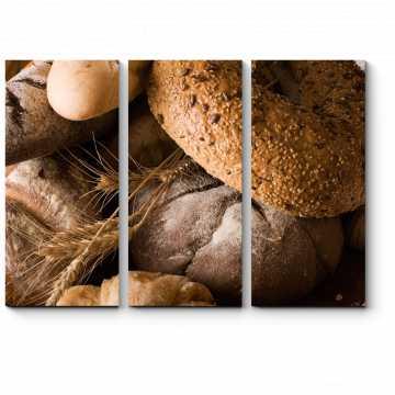 Модульная картина Утро в пекарне