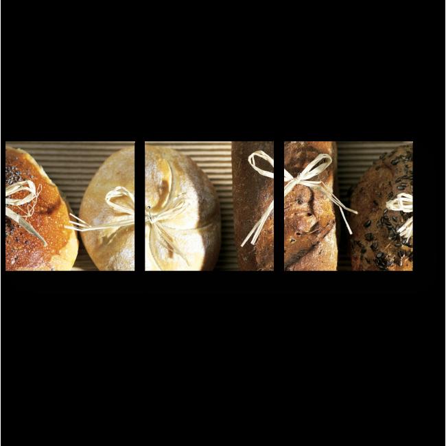 Модульная картина Свежий хлеб