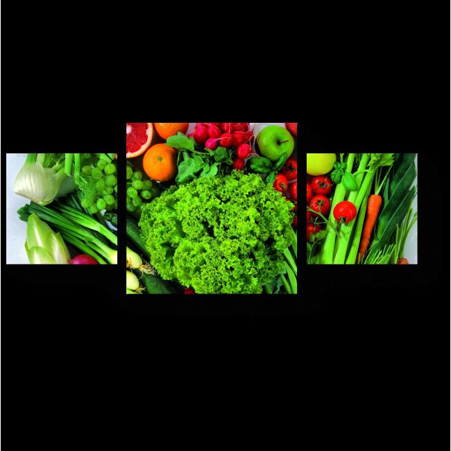 Модульная картина Овощное ассорти