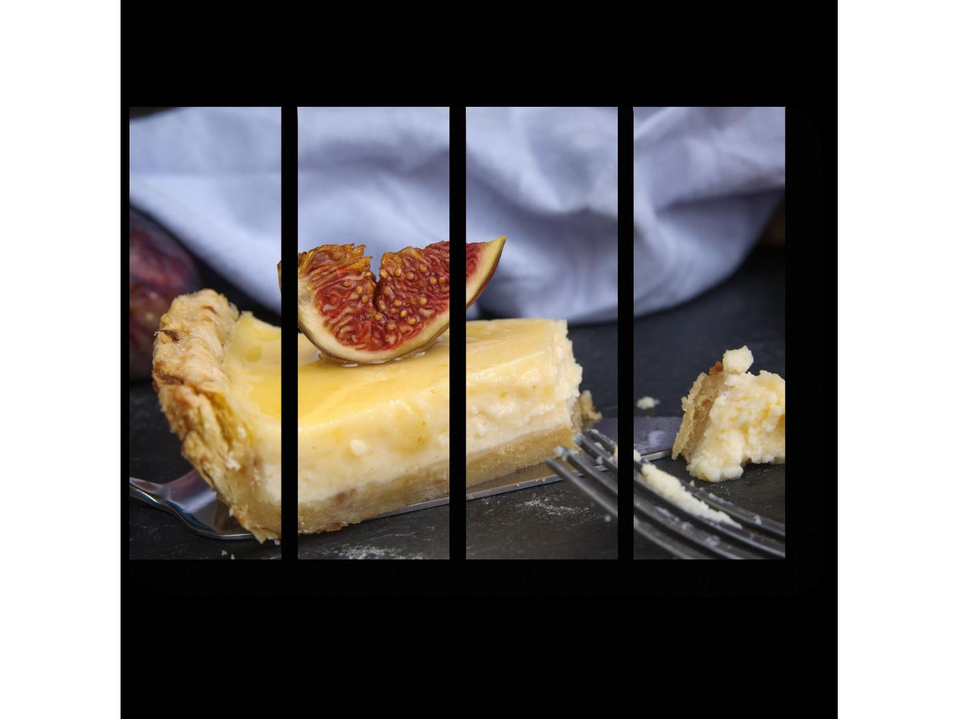 Модульная картина Вкусный чизкейк (60x45) фото