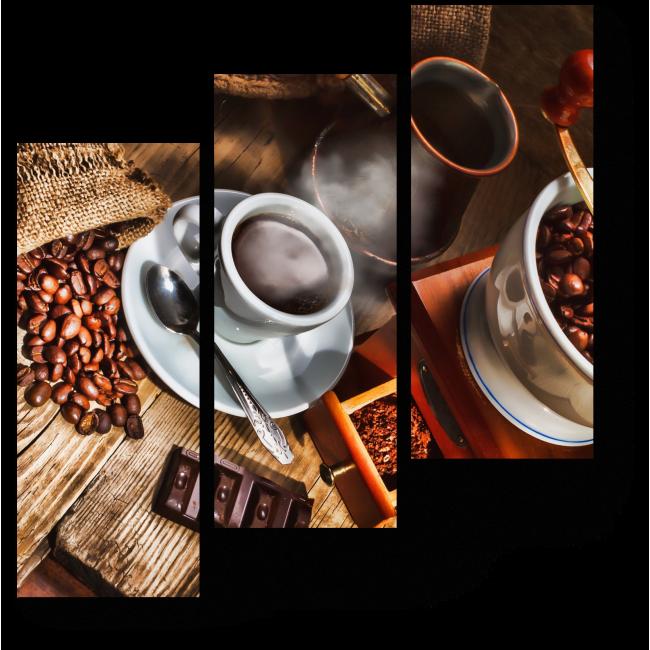 Модульная картина Кофейная кантата