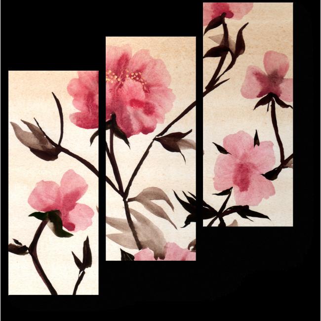 Модульная картина Хрупкость весны
