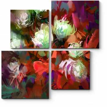 Яркий букет цветов