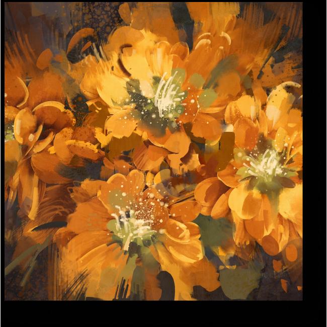 Модульная картина Золотое цветение