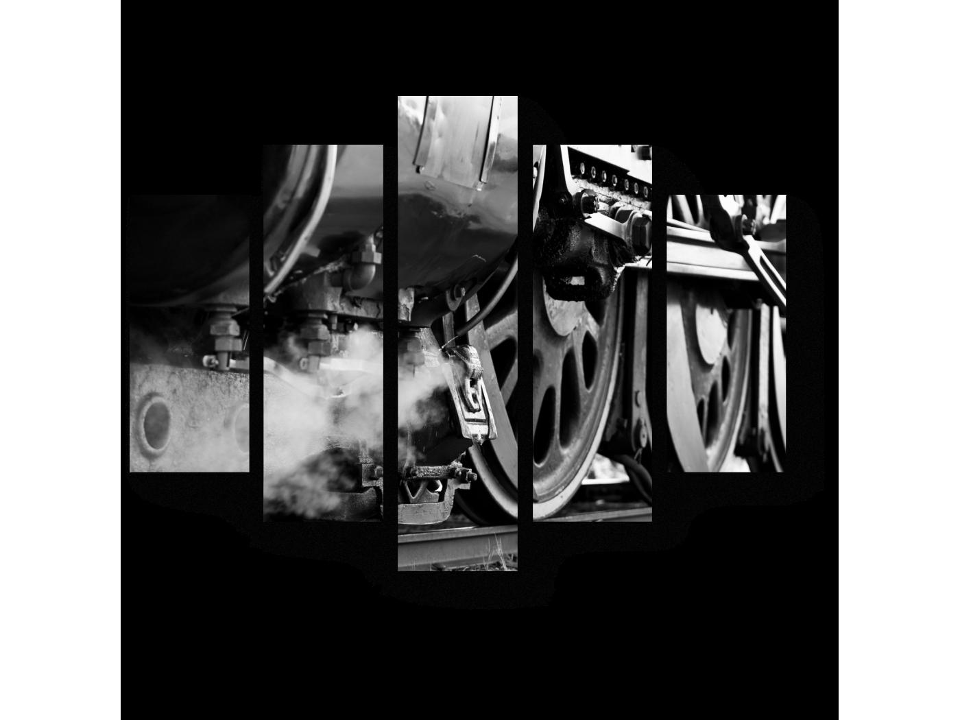 Модульная картина На перроне (75x60) фото