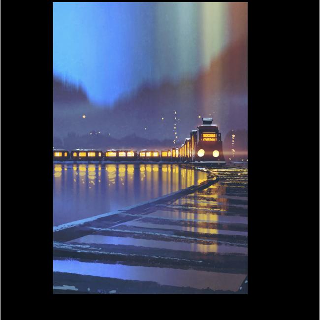 Модульная картина Ночные огни