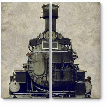 Модульная картина Ретро локомотив