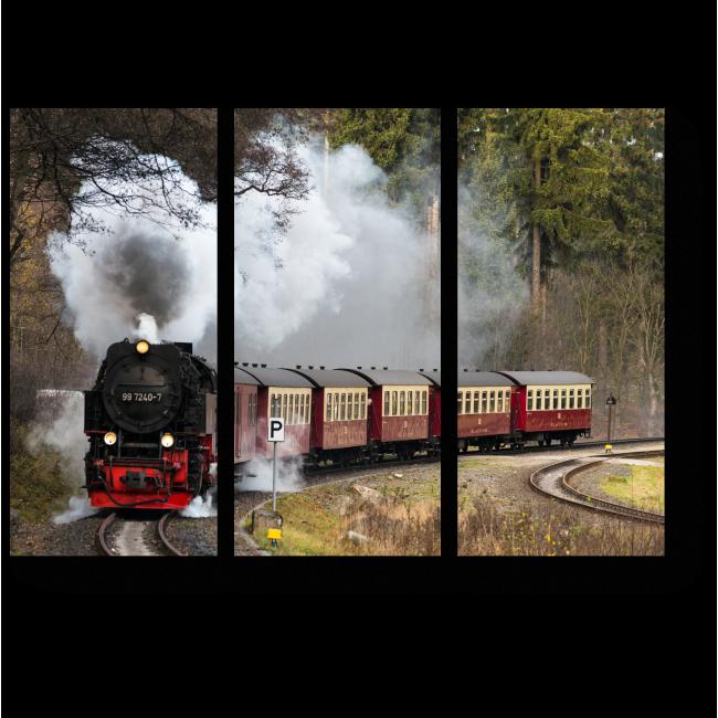 Модульная картина Старый добрый паровоз