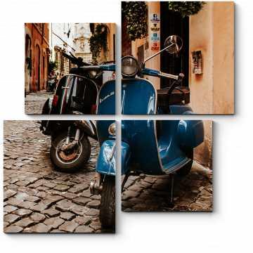 Модульная картина На мощенных улочках Рима