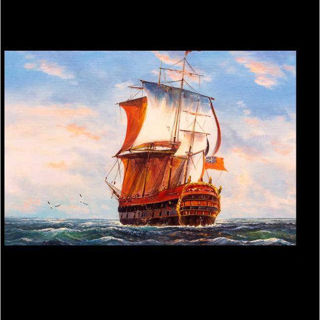 Модульная картина Корабль
