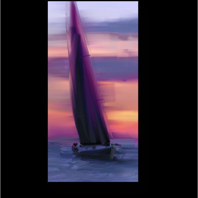 Модульная картина Океанский закат