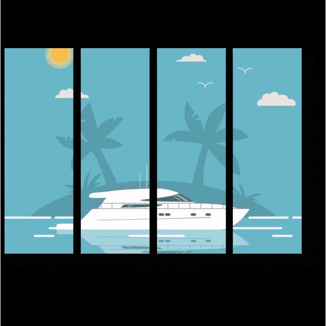 Модульная картина У солнечных берегов