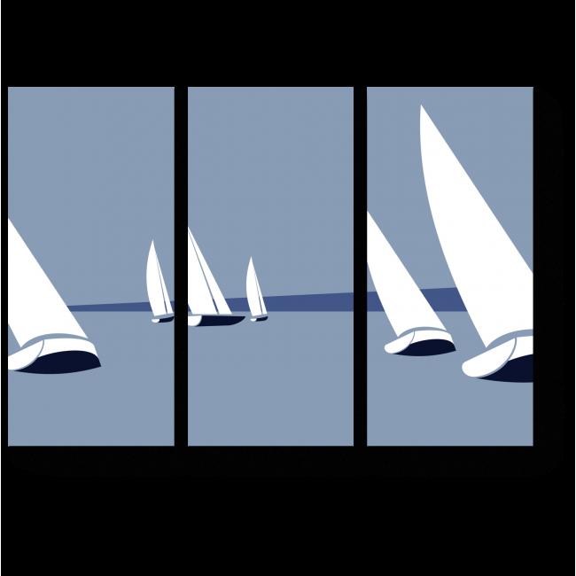 Модульная картина Гонка яхт