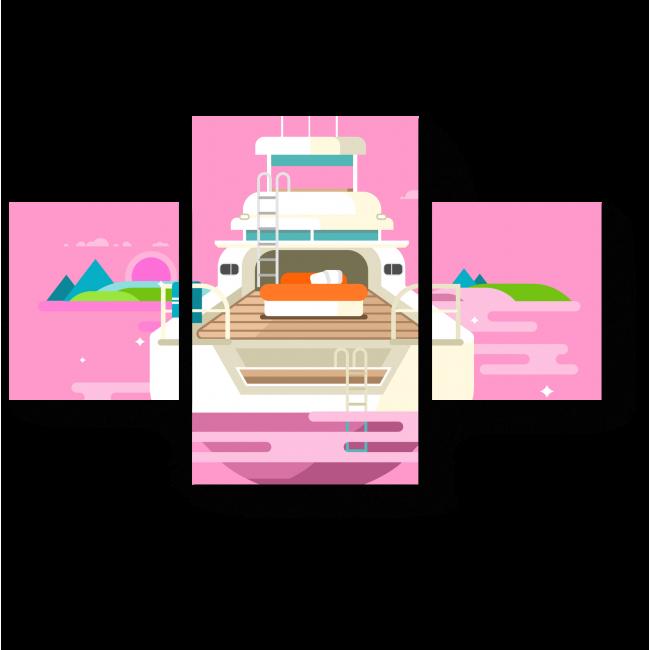 Модульная картина Путешествие в розовые мечты