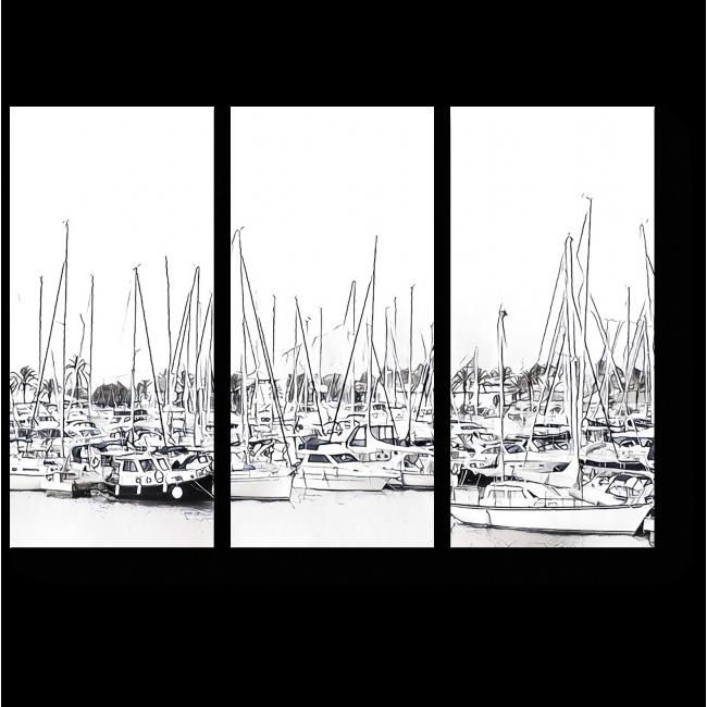 Модульная картина В порту