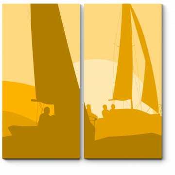 Яхты в лучах закатного солнца