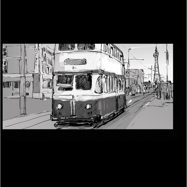 Модульная картина Лондонский трамвай