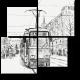 Городской пейзаж в черно-белом
