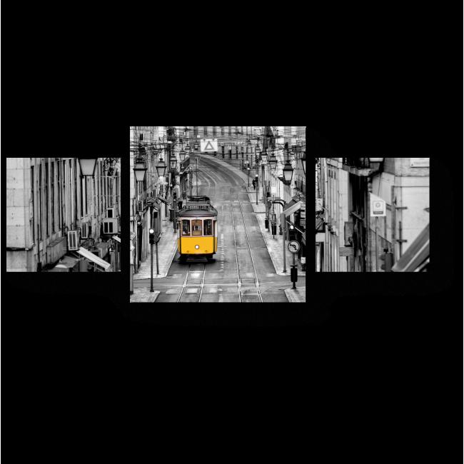 Модульная картина Одинокий трамвай, Лиссабон