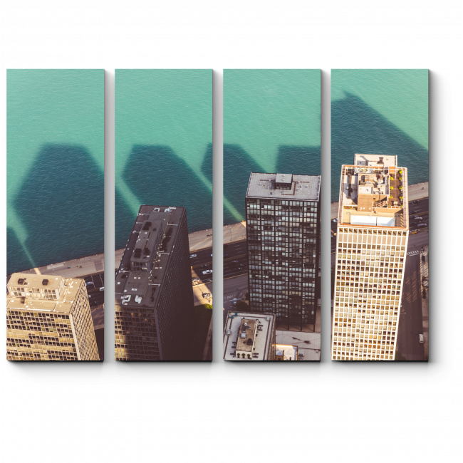 Модульная картина Пролетая над Чикаго
