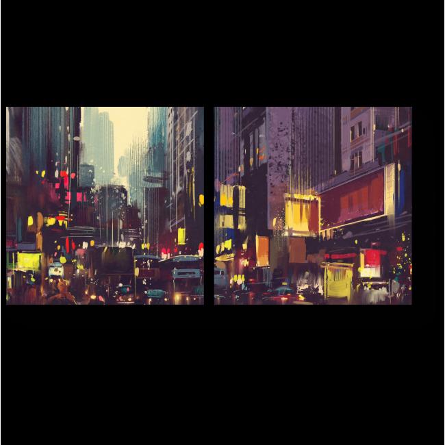 Модульная картина Огни Гонконга