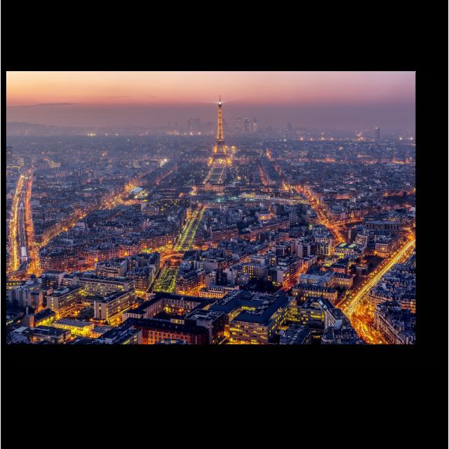 Модульная картина Сумеречный Париж