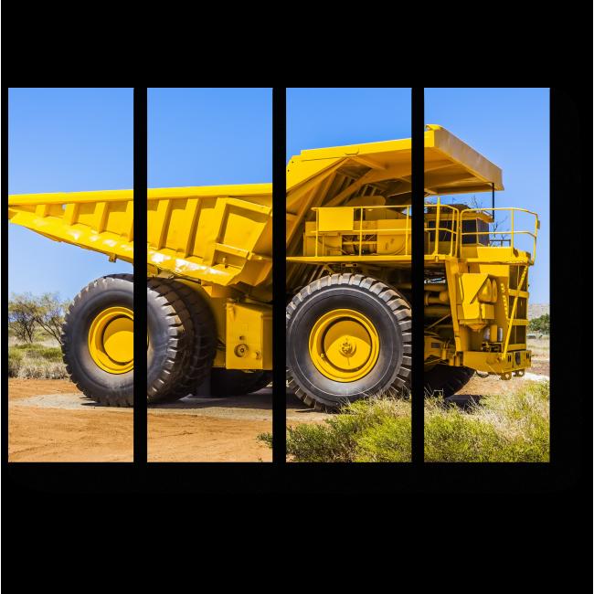 Модульная картина Желтый гигант