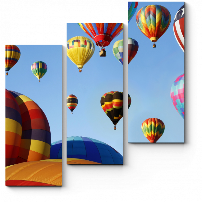 Модульная картина Разноцветные шары