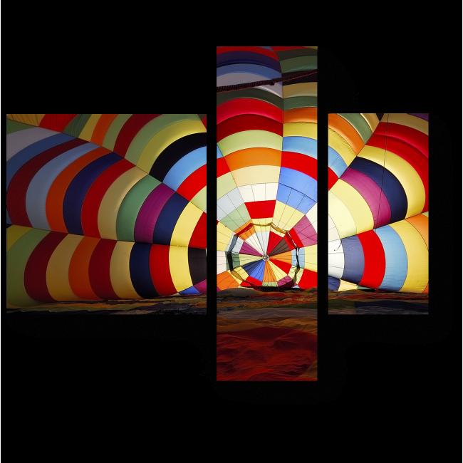 Модульная картина Внутри радуги