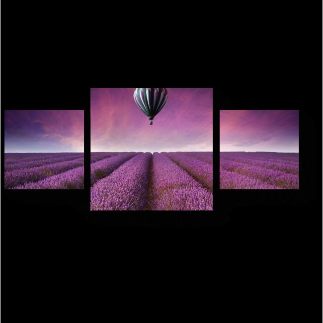 Модульная картина Пролетая над Провансом