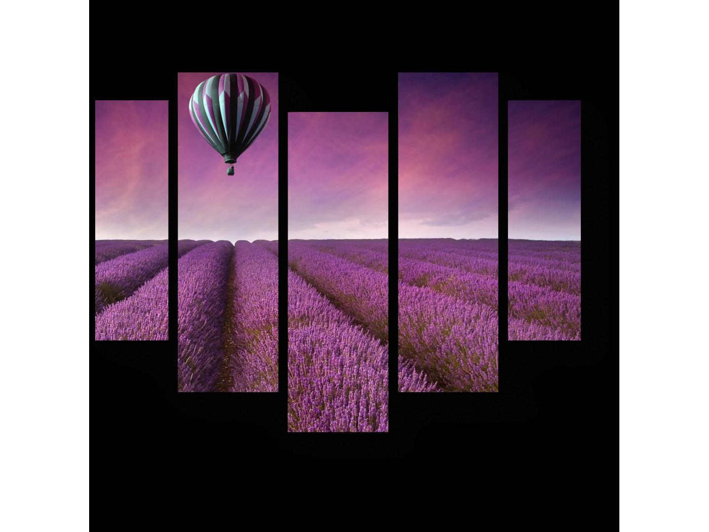 Модульная картина Пролетая над Провансом (101x82) фото